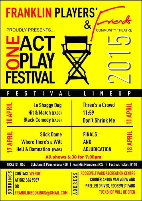 2015 Franklin and Friends One Act Play Festival