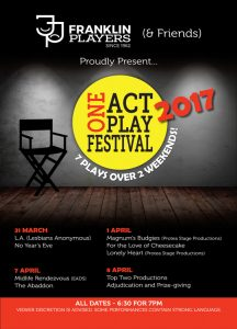 Franklin & Friends One Act Play Festival 2017