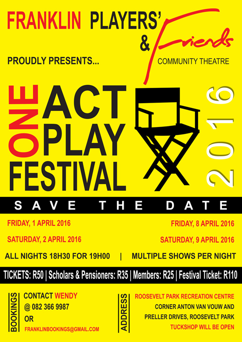Franklin Players and Friends One Act Play Festival 2016