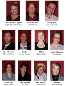 "Cast of Franklin's mid-year farce ""Hello, Is There Anybody There?"""