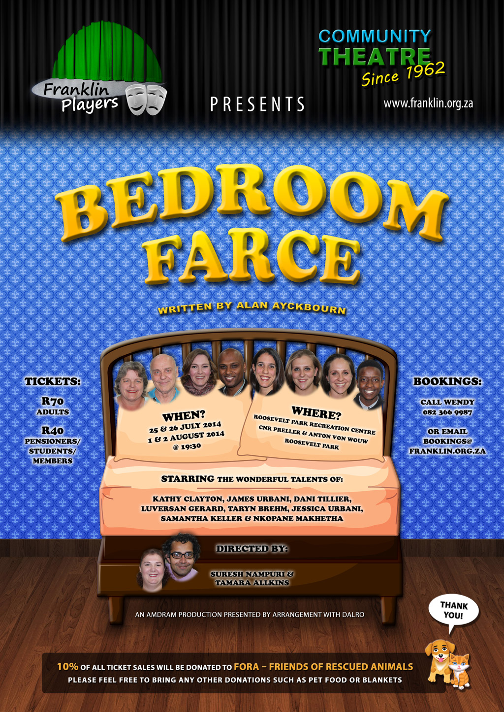 Bedroom Farce by Alan Ayckbourn, performed by the Franklin Players