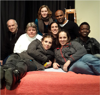 The cast of Bedroom Farce performed by Franklin Players 2014