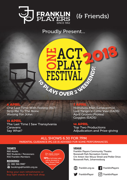 Franklin & Friends One Act Play Festival 2018