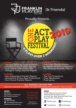 Franklin and Friends One Act Play Festival 2019